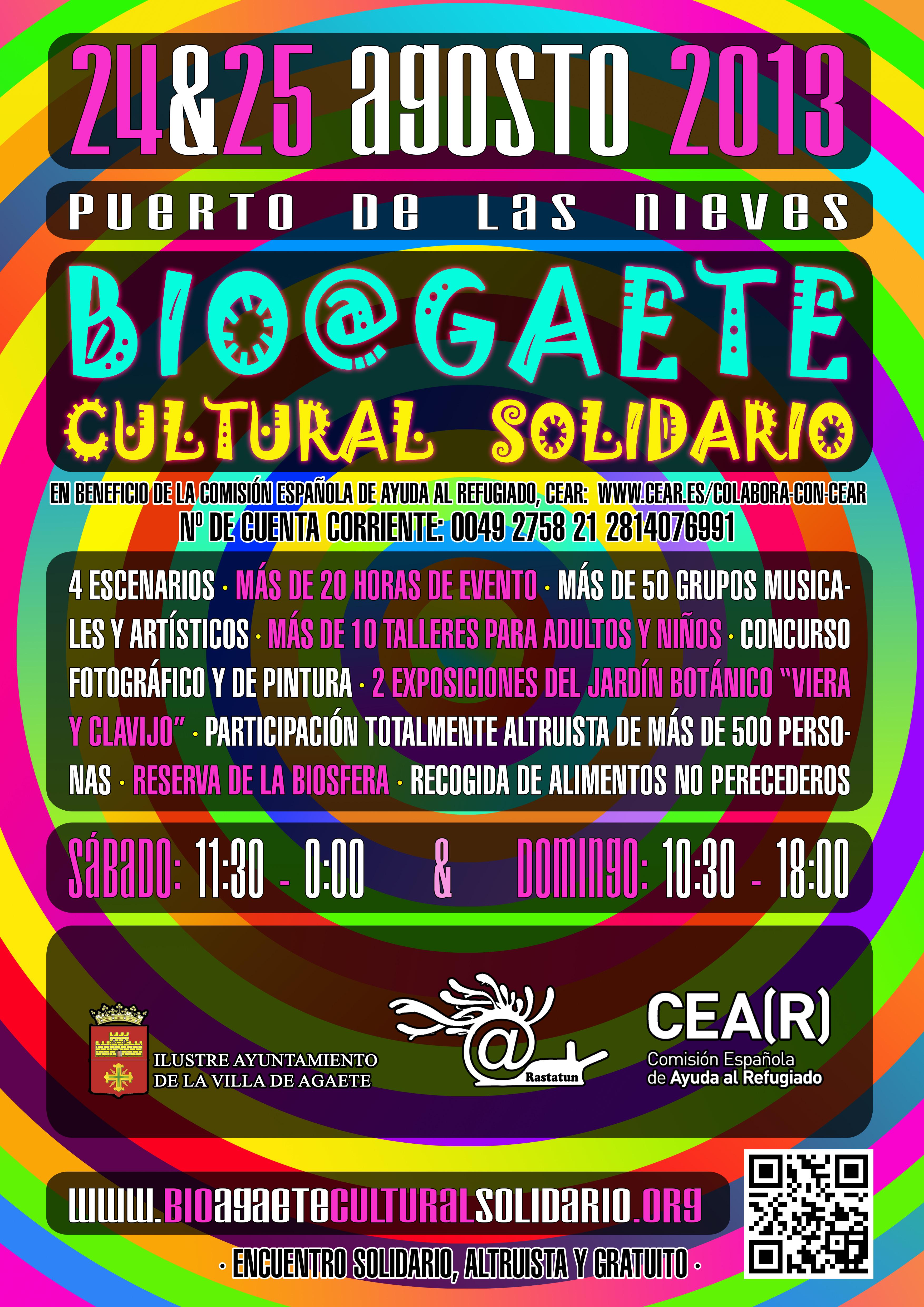 cartel BIO@GAETE CULTURAL SOLIDARIO & CEAR