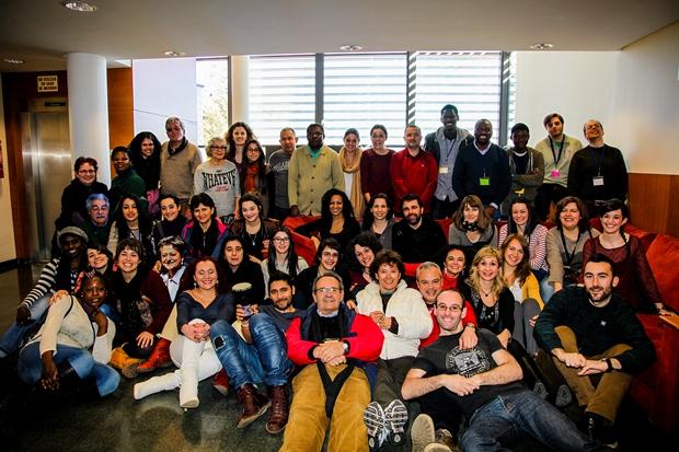 Foto de familia del XII Encuentro de Voluntariado de CEAR en Buitrago