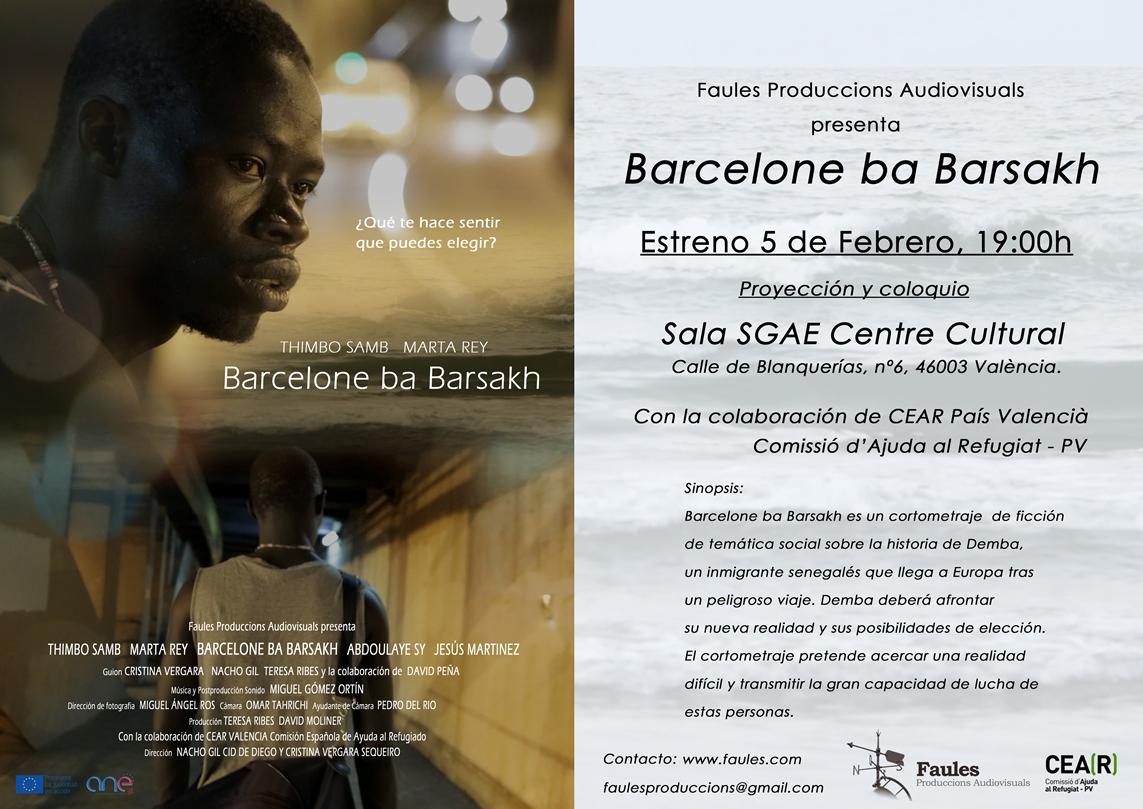 Estreno Barcelone ba Barsakh. Cartel2