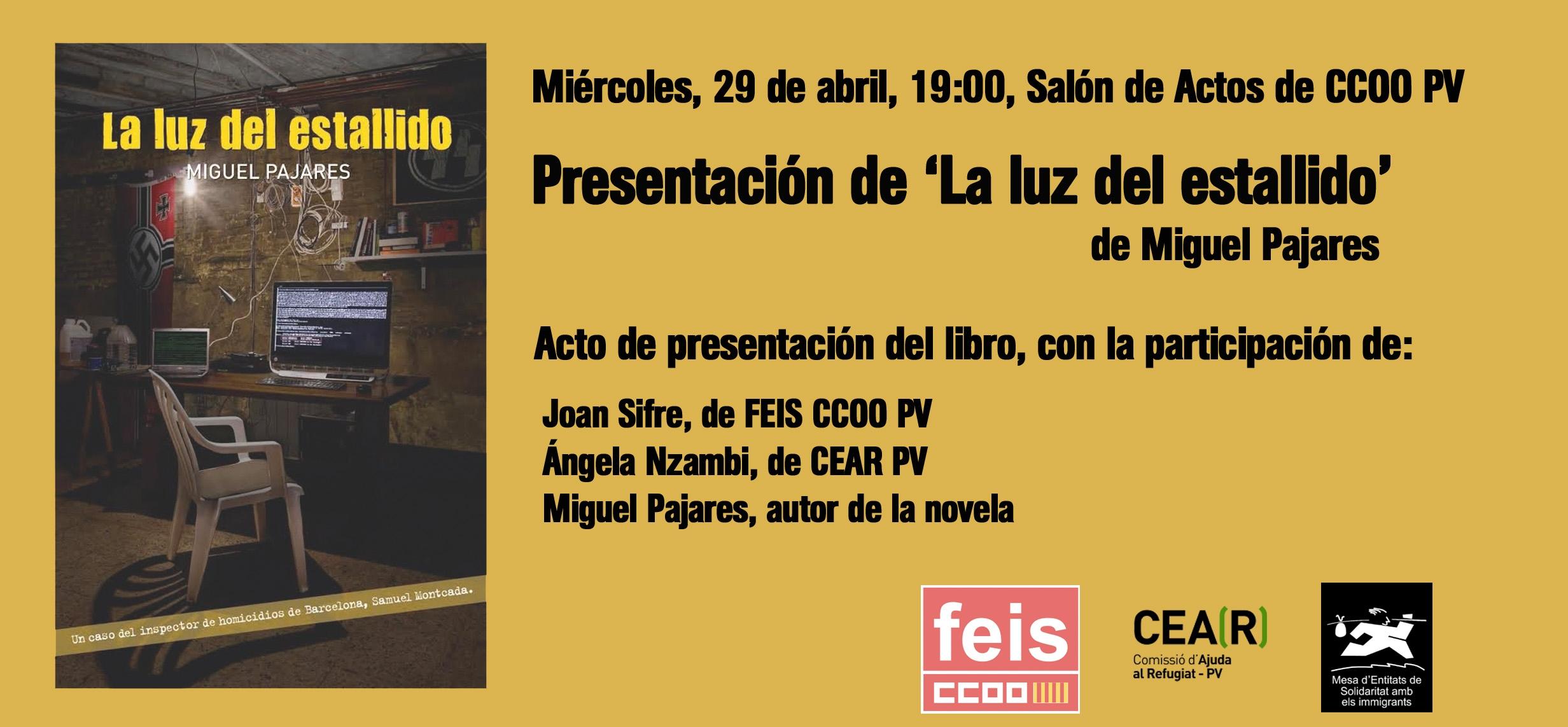 Cartel presentación Luz del estallido-CEAR Valencia