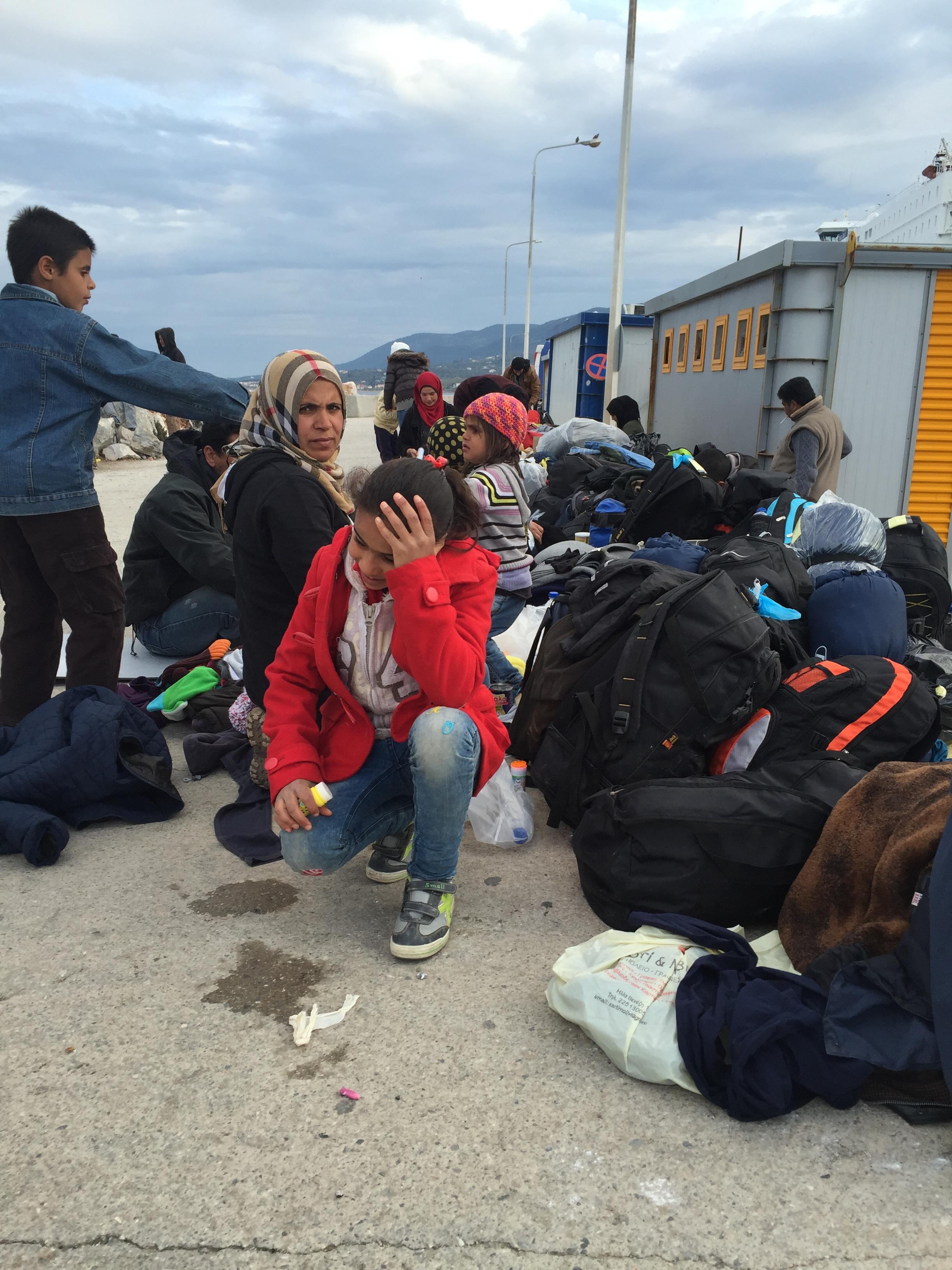 Puerto en Lesbos