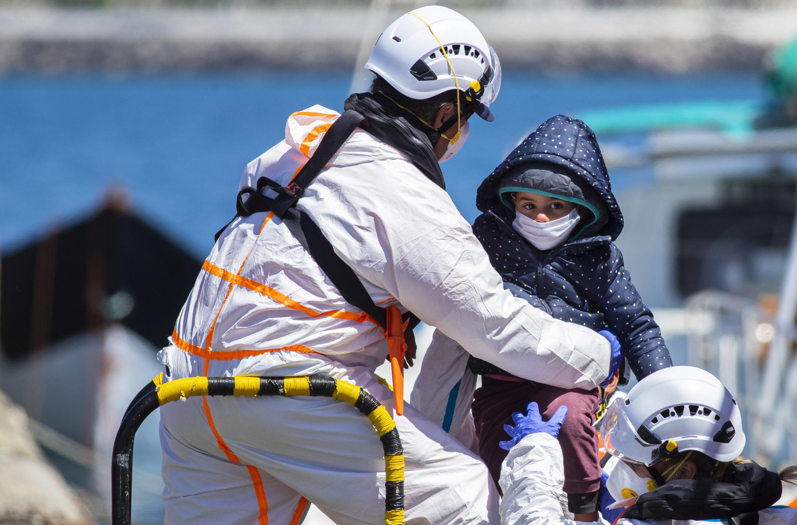 Niños migrantes Canarias